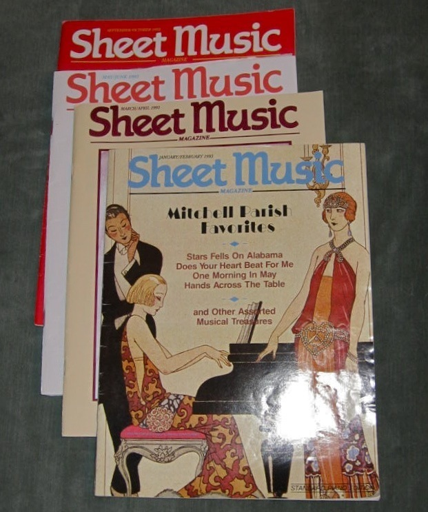 Super lot of 4 sheet music magazine standard piano 1993 for House music 1993
