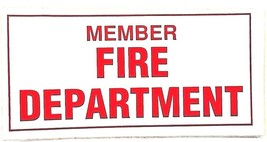 """Member - Fire Department - Vinyl Firefighter Decal - 2"""" X 4"""" - $2.48"""
