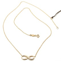 18K ROSE GOLD NECKLACE INFINITY INFINITE, ROLO CHAIN, 17.7 INCHES MADE I... - $411.40