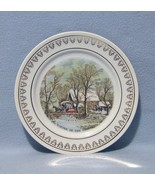 Roy Thomas Currier and Ives The Old Grist Mill Plate - $8.99