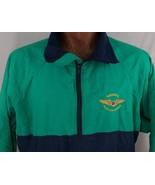 Vintage National Warplane Museum Green Blue Sportsmaster Jacket Made USA... - $42.20