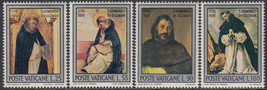 1971 St Dominic Set of 4 Vatican City Postage Stamps Catalog Number 509-12 MNH