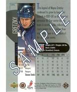 1998 wayne gretzky promo sample card upper deck new york rangers - $9.99