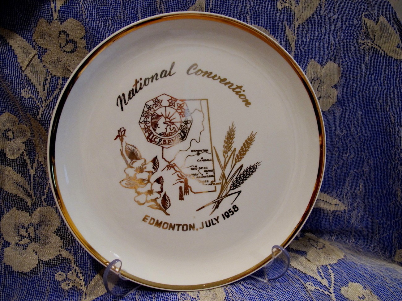 Canadian Federation of Business and Professional Womens Club Souvenir Plate '58