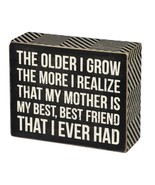 "Mother is Best Friend I Ever Had Box Sign Primitives Kathy 5"" x 4"" - $12.95"