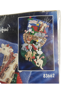 Vintage Bucilla Felt Applique Christmas Stocking Kit 83662 Noah's Ark Ne... - $34.99