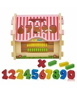 Square House Sorting Counting Toys Color Block Matching - Wooden Learn P... - $10.67