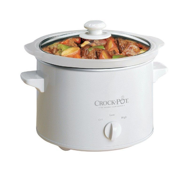 Slow Cooker Remy Crock Pot 5025 WG 2.5 Quart Glass lid Rinse Clean stick Free