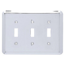 Triple Switch Wall Plate, Chrome - $16.82