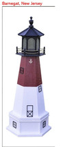 Amish Hand Crafted & Painted Replica Lighthouse & Base 4ft Barnegat, New... - $277.19