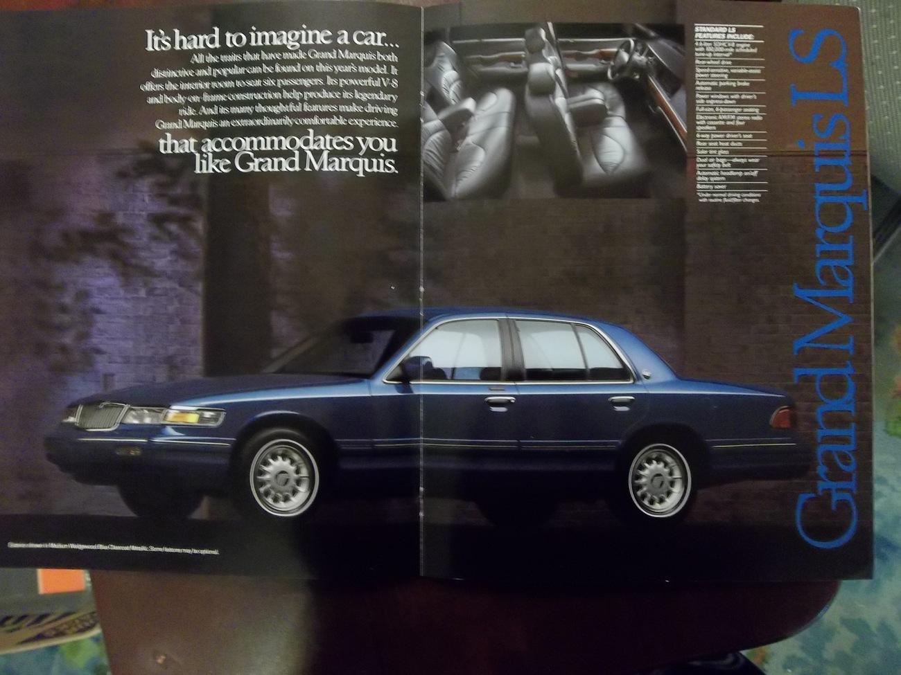 1996 Mercury Full Line Color Brochure