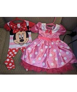6pc 3T Lot Disney Minnie Mouse Costume, Pajamas, Swimsuit, Sweater, Dres... - $48.37