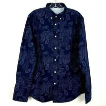 NEW BANANA REPUBLIC Luxe Poplin Shirt Button Up Untucked Slim Fit Men's ... - $29.69