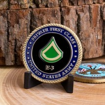 "ARMY PRIVATE FIRST CLASS PFC E3 1.75"" CHALLENGE COIN - $16.24"