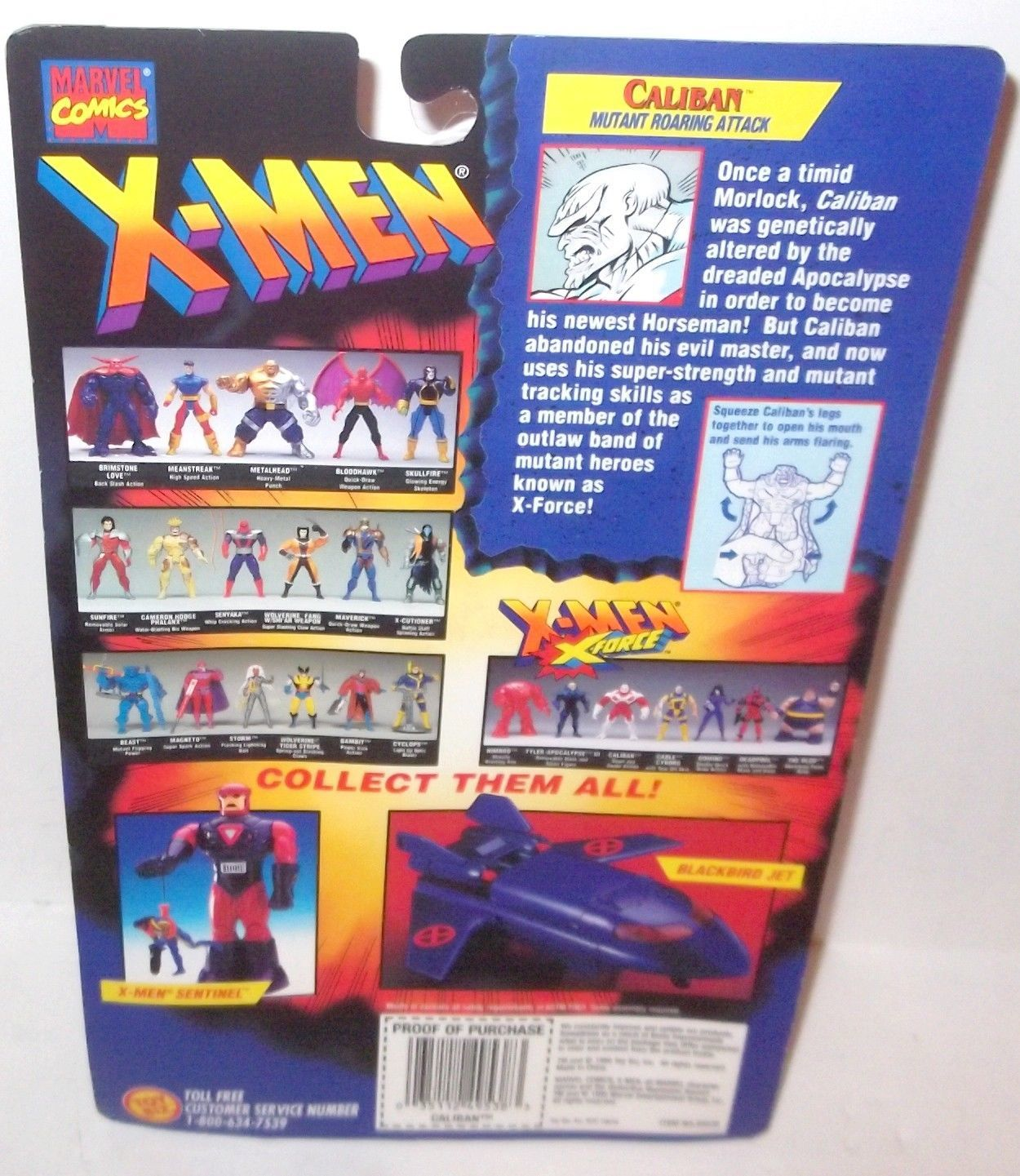 CALIBAN 1995 Action Figure X-men X-Force X-Factor 10.0 Toy Biz MOC or LOOSE