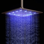 "Primary image for Fontana 12"" Oil Rubbed Bronze Square Color Changing LED Rain Shower Head (Solid"