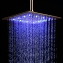 "Fontana 12"" Oil Rubbed Bronze Square Color Changing LED Rain Shower Head... - $249.00"