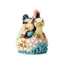 "5.38"" ""Lovebirds"" Mickey & Minnie in Swan - Jim Shore Disney Traditions image 3"