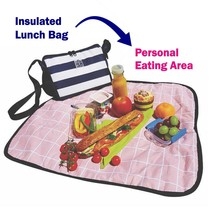 Insulated Lunch Bag with Personal Eating Area - $9.60