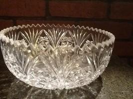 Cut Glass Serving/Salad Bowl Vintage - $12.85