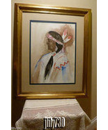 Native American Man Large Watercolor Painting by Anna Sandhu Ray  - $745.00