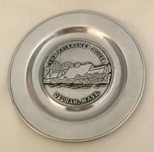 "FAIRBANKS HOUSE DEDHAM MASS. WILTON ARMETALE 6"" Plate PEWTER METAL DAR SAR - $43.54"