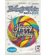 "Betallic Lollipop Birthday Holographic Package Balloon, 18"" - $6.82"