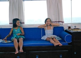 John F Kennedy - Maria Shriver and Caroline on the Kennedy yacht the Hon... - $7.00