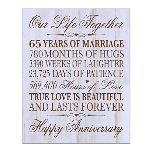 What Is The 30th Wedding Anniversary Gift: Personalized 65th Wedding Anniversary Wall Plaque Gifts