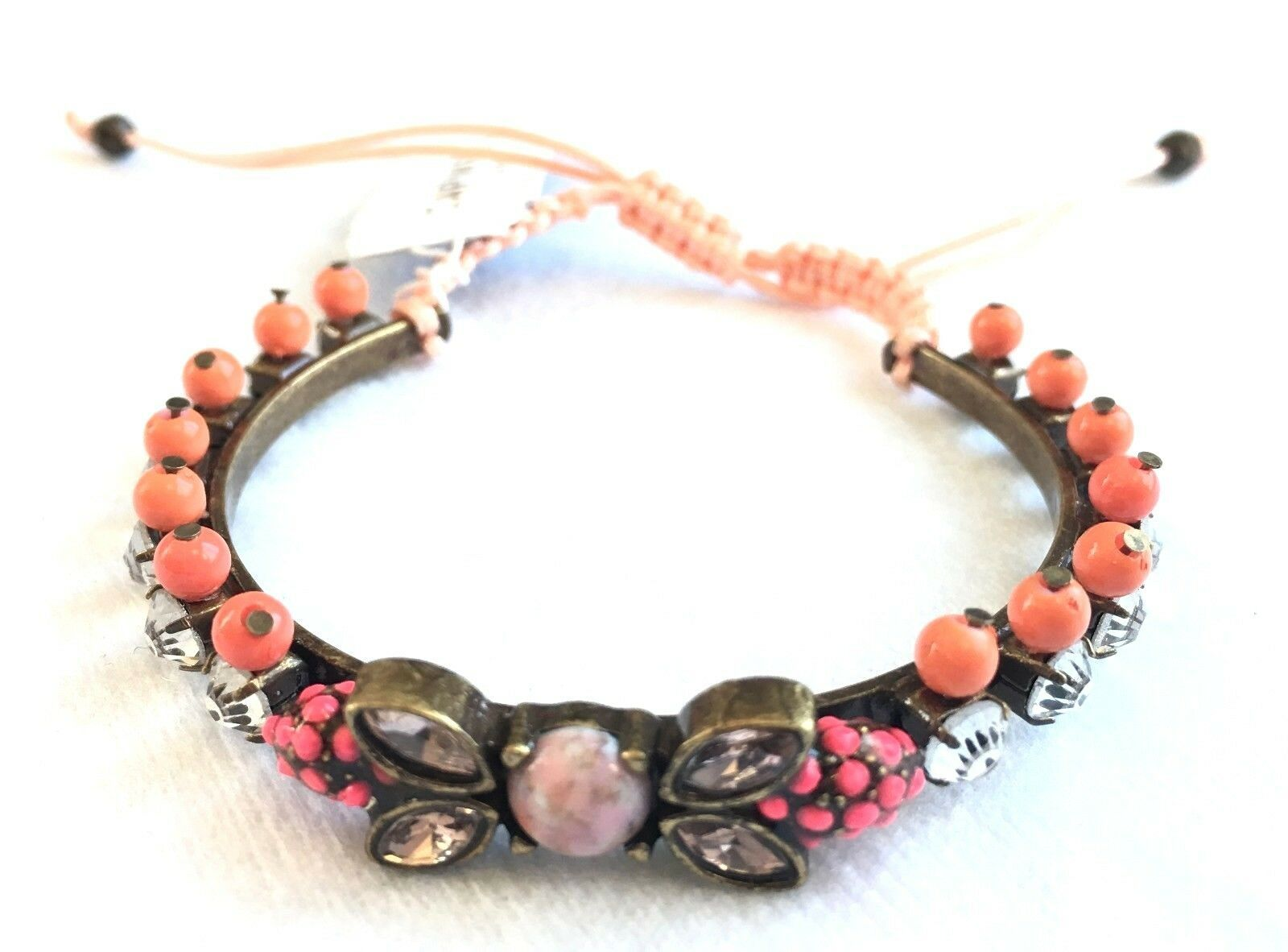 Capwell + Co. On The Bright Side Crystal Beaded Adjustable Bracelet NWT