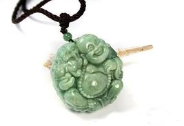 perfect Natural Pea Green Pixiu Buddha Jadeite Jade Pendant image 3