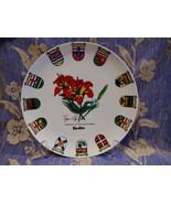 Yorkton Saskatchewan Souvenir Collector Plate Vintage Collectible Tiger ... - $14.95