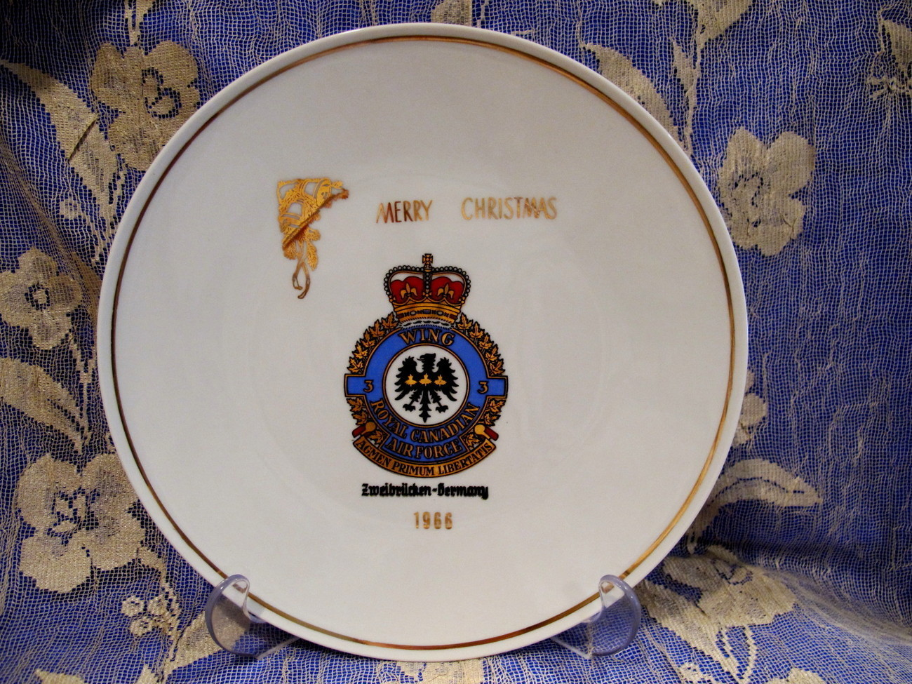 Primary image for RCAF Royal Canadian Air Force 3 Wing Zweibrucken Souvenir Collector Plate Xmas