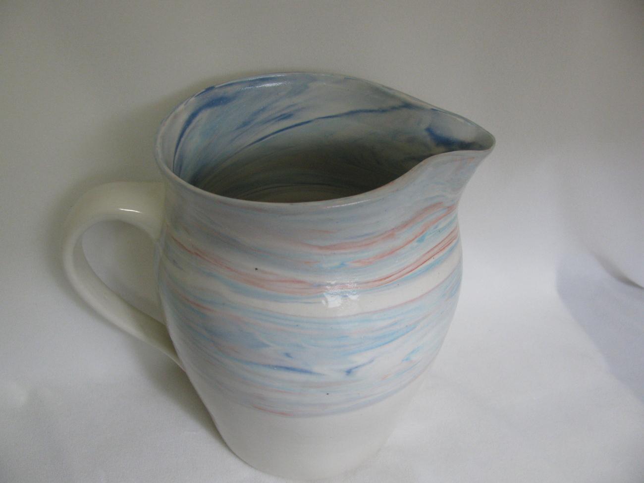 Large Colored Porcelain Pitcher RKC032