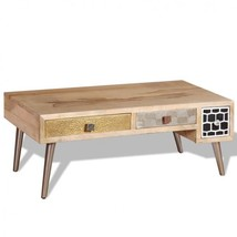 Coffee Table Wooden Drawers Vintage Storage Sideboard Display Side End F... - €172,38 EUR