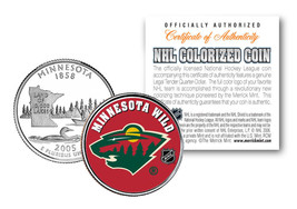 MINNESOTA WILD NHL Hockey Minnesota Statehood Quarter US Colorized Coin ... - $7.66