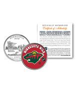 MINNESOTA WILD NHL Hockey Minnesota Statehood Quarter US Colorized Coin ... - $7.66