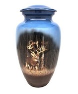 Small/Keepsake 3 Cubic Inch Deer in Woods Aluminum Cremation Urn for Ashes - $49.99