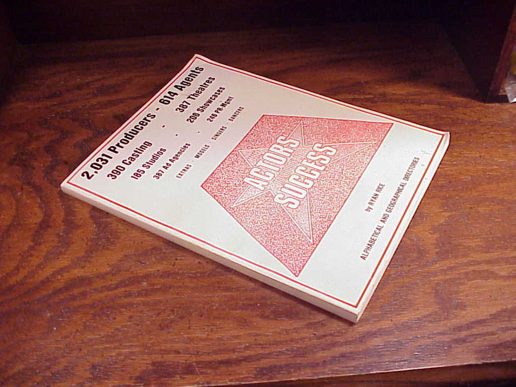 1980's The Actors Handbook of Success Book by Ryan Rice, interesting