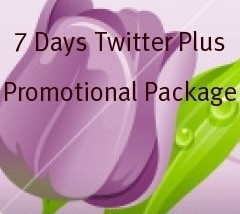 7 Items For 7 Days Twitter Plus Promotion Package - $7.99