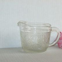 Anchor Hocking Glass Sandwich Creamer Vintage Cream Pitcher Depression Textured - $12.41