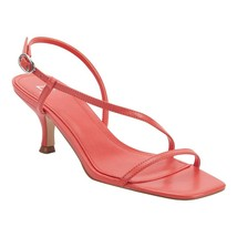 Marc Fisher Women's Gove Strappy Heeled Sandals, Orange Leather, 10 - $54.44
