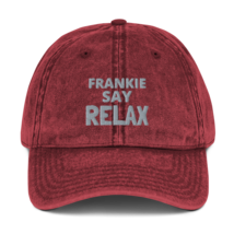 Frankie SAY RELAX hat / Vintage Cotton Twill Cap image 4