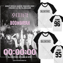 Kpop BLACKPINK SQUARE ONE Raglan Sleeve T-shirt Unisex Tshirt Cotton Jen... - $9.66