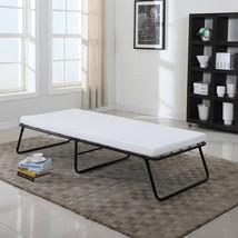 Folding Cot Platform Bed Frame With Memory Foam Mattress Guest Massage T... - $94.95