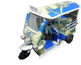 TUK TUK model made from tins Cheers Beer handmade Thailand Taxi 6x3x2 inch - $19.99