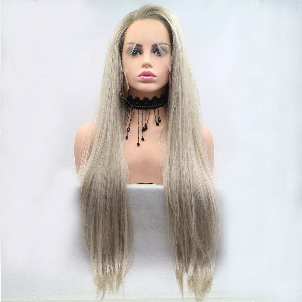 Fantasy Beauty Glueless Blonde Ombre Lace Front Wigs