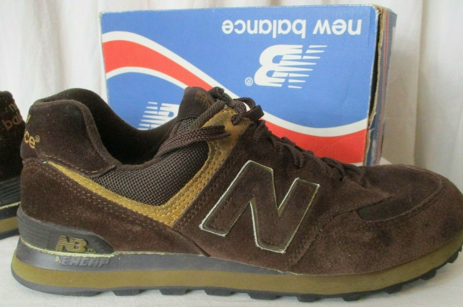 New Balance Men 10 M574BS Encap Sneakers Shoes Chocolate Brown image 8