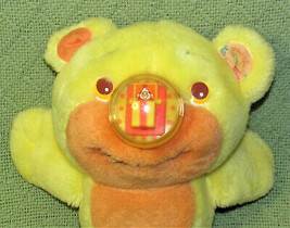 Vintage Playskool NOSY BEAR SURPRISE Yellow 1988 Plush Stuffed Animal Teddy Toy image 2