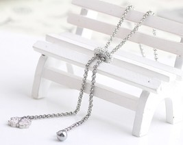 European And American Fashion Flowe Pendant Stainless steel Crystal Jewe... - $11.81